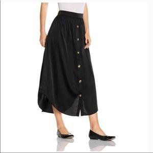 JJill Black Button Down Maxi Skirt NWT